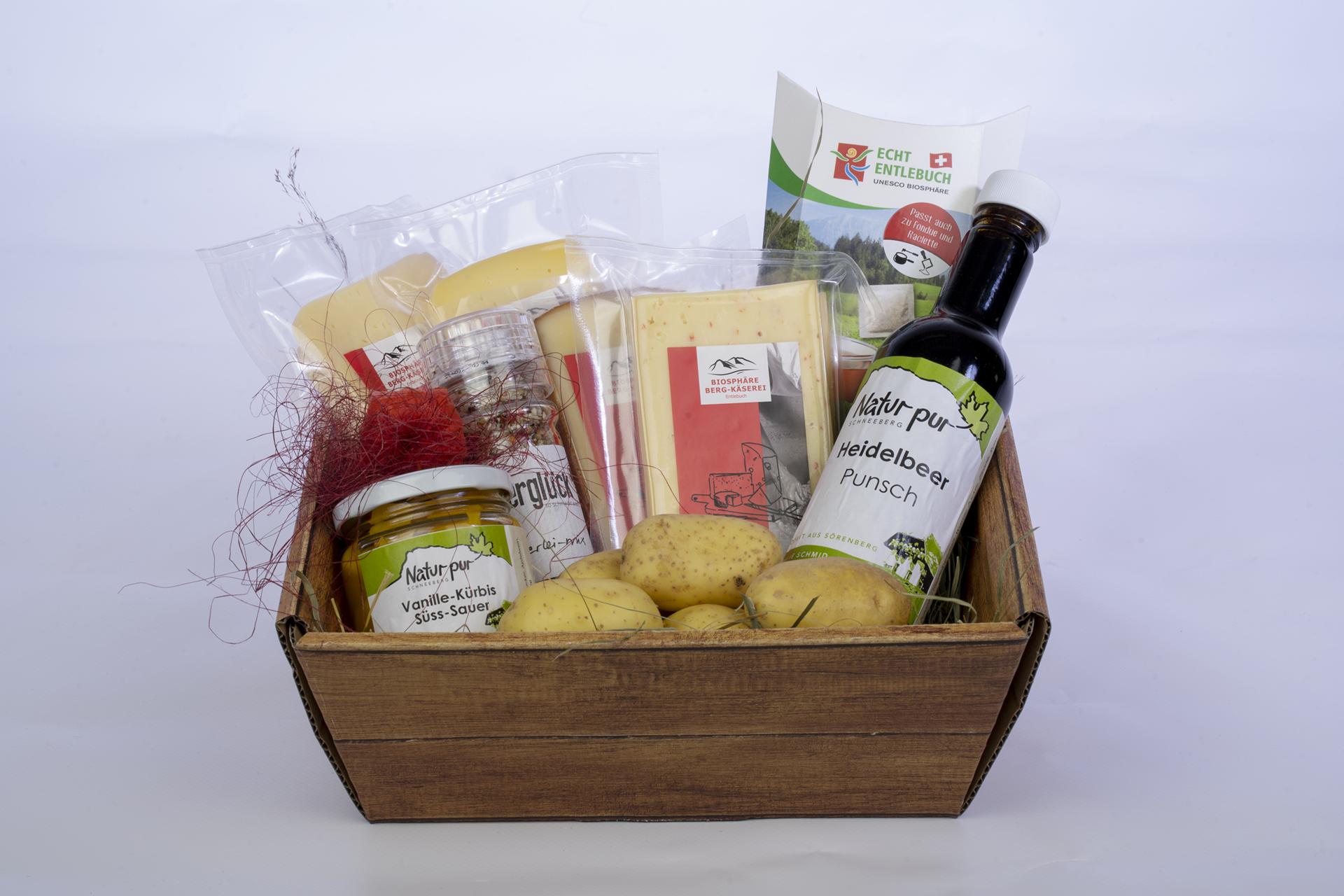 Geschenkskorb-Raclette